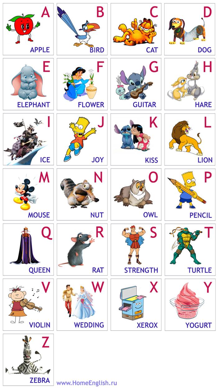 РАЗВИТИЕ РЕБЕНКА Английский Алфавит в стихах для Детей